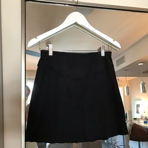 Liberty Garden for Free People Faux Suede Skirt